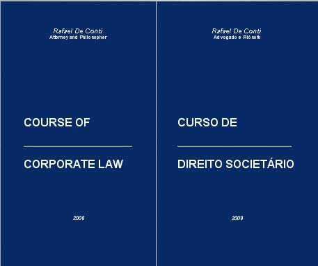 Course of Corporate Law - Curso de Direito Societário